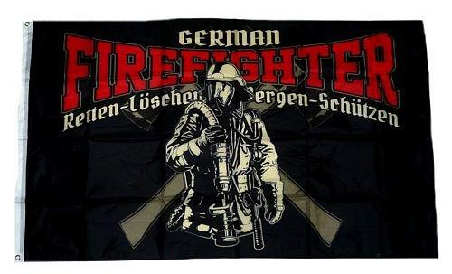 Fahne/Flagge Feuerwehr Firefighter 90 x 150 cm