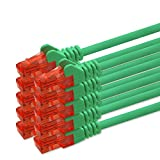 5m - grün - 10 Stück CAT.6 Netzwerkkabel Cat6 Netzwerk
