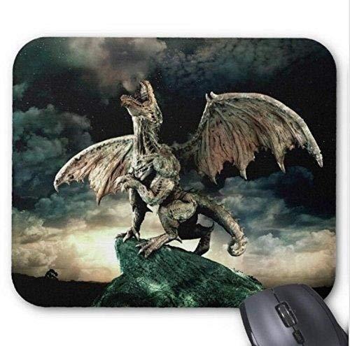 Yanteng-Mauspads, Präzisionsnaht, strapazierfähiges Gaming-Mauspad, Mousepad-Spiel Dragon Spray Mouse Mat