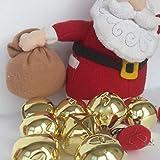 Panami Suministros para campanas de Navidad gigantes, color dorado, 45 mm de ancho, se venden por campana, botones vintage para manualidades y costura