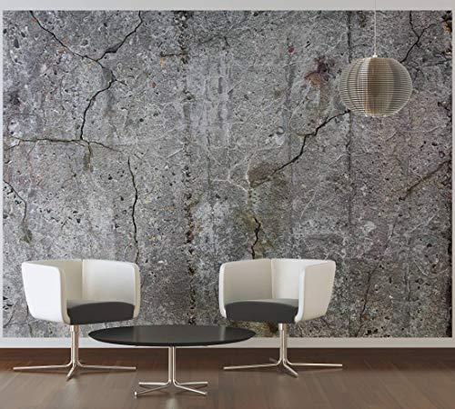 awallo Fototapete – Motiv «alter Beton» in Grau   350x255cm   XXL Bild-Tapete Wand-Bild Digitaldruck   hochwertige Vliestapete – Made in Germany   einfache Verarbeitung