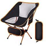 Lambony Chaise Pliante Chaise de Camping Légère et Solide avec Sac de Transport, pour la randonnée/Pêche/Barbecue Pique-Nique résistant Capacité 150 Kg