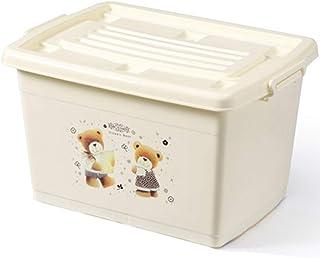 PPCP Storage Box Plastic Clothes Storage Box Thickening Storage Box (Color : Beige)