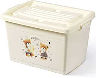 PPCP Storage Box Plastic Clothes Storage Box Thickening Storage Box (Color : Beige)
