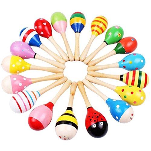 ABBY Jouets en bois Sable marteau bébé secousse Petite enfance jouets éducatifs Petit marteau de sable 3 en 1