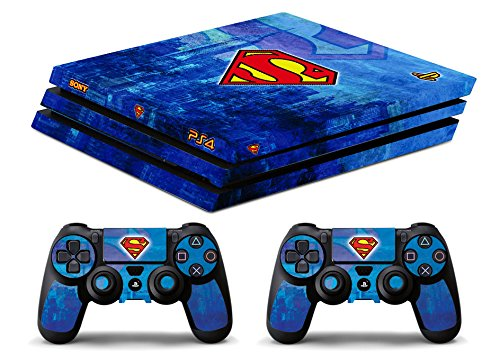 Skin Ps4 PRO - SUPERMAN - limited edition DECAL COVER ADESIVA Playstation 4 Slim SONY BUNDLE