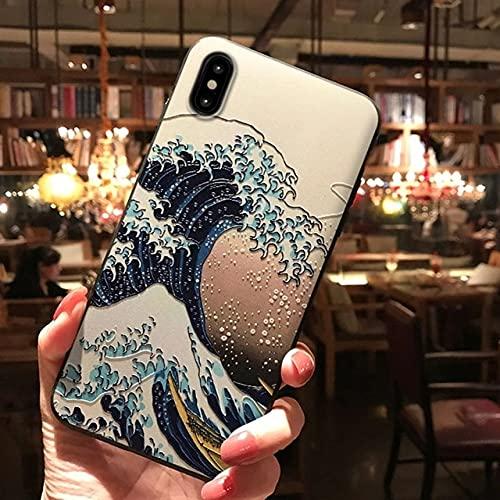 Funda para teléfono en Relieve 3D para iPhone 13 12 11 X XS XR Pro MAX Funda Trasera Mate Suave para iPhone 7 8 Plus, 1, para iphone12promax