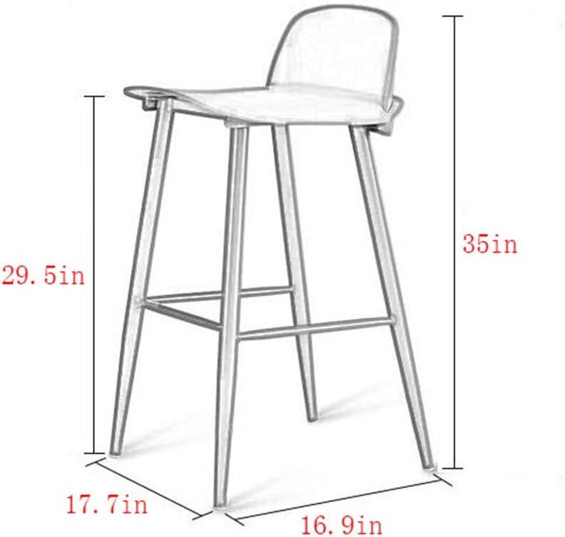 KAI LE Tabouret de Bar/Chaise de Bar/personnalité Minimaliste Moderne Chaise de Bar Tabouret de Bar créatif Home Fashion Bar Chair (Couleur : Noir) Noir