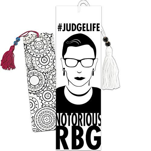 Ruth Bader Ginsburg Bookmark Bundle ~ Progressive Liberal Notorious R.B.G. Merchandise with Mandala Coloring Bookmark (Progressive Liberal Office Supplies)