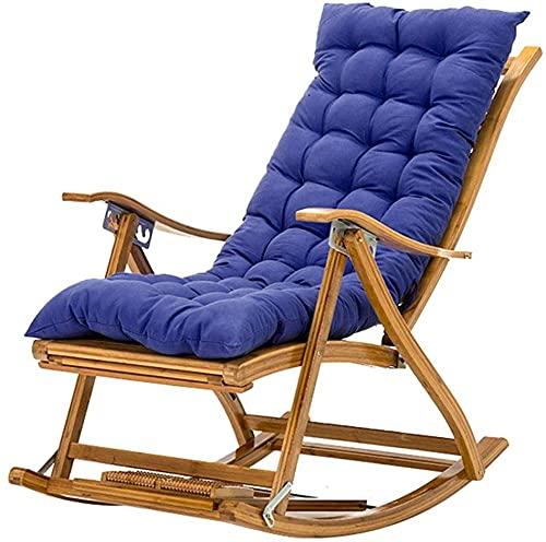 Silla ajustable de gravedad cero silla portátil Tumbona reclinable de bambú con reposacabezas y reposapiés (color : silla+estera d)-silla+colchoneta
