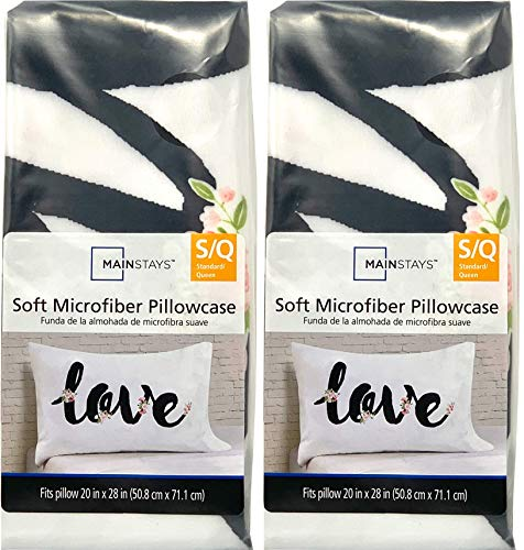 mainstays pillow side sleepers Mainstays Soft Microfiber Pillowcase Arrows S/Q 2-Pack
