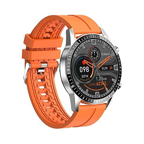 TIANYOU Smart Watch 1.3 Pulgadas Pure Redondo Pure Redondicion Pantalla Grande Pantalla Musica Pedetrómico Ip67 Inteligencia de Deportes de Bluetooth Impermeable Exclusivo/naranja