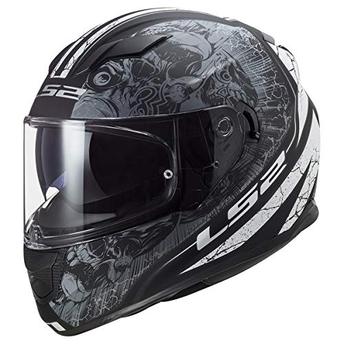LS2 Helmets Full Face Stream Throne Helmet (Matte Black Titanium - Large)
