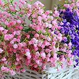 100 ramos de flores naturales de Gypsophila secas, aliento de bebé, arreglos de mesa, decoraciones de boda: 12