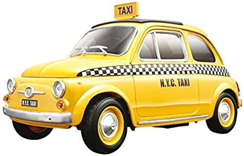 Fiat 500 Taxi Cab Diecast Model 1 18 by Bburago