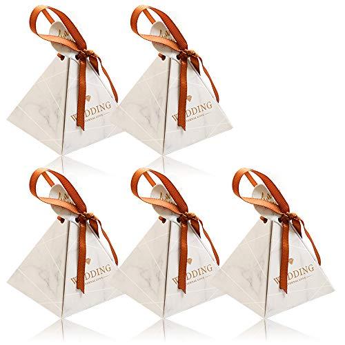 Besylo Süßigkeiten Schachtel, Bonbons Schachtel, Papier Hochzeit Geschenkbox, 50 Stück bunte Cupcake-Boxen mit Pfefferminzbonbons, Pralinen oder Süßigkeiten für Partyhochzeits-Geburtstagsdekoration
