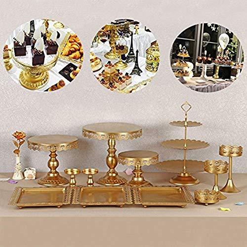 SHIOUCY Vintage Rund Tortenständer Kristall Kuchenteller Tortenplatte Kuchenplatte Tortenständer Vintage Kristall Party Kuchenteller (12 Stück)