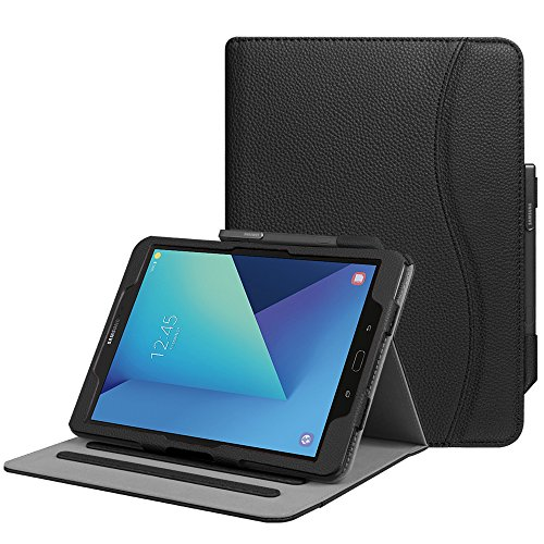 Fintie Case for Samsung Galaxy Tab S3 9.7, [Corner Protection] Multi-Angle Viewing Stand Cover Packet with S Pen Protective Holder Auto Sleep/Wake for Tab S3 9.7(SM-T820/T825/T827), Black
