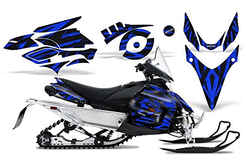 CreatorX Graphics Kit Decals Stickers for Yamaha Phazer Rtx Gt Mtx Snowmobile Sled Tribal Madness Blue