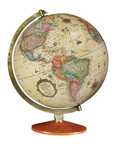 Replogle Odessa - Antique Ocean 2-Way Map, Illuminated World Globe, Raised Relief, Up-to-Date Cartography, Made in USA(12'/30cm Diameter) …