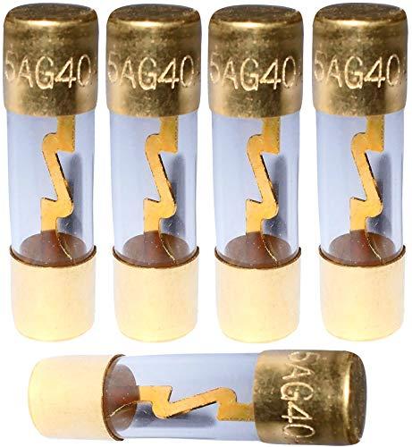 AERZETIX: Lot de 5 fusibles AGU pour sono auto voiture ampli sub subwoofer (40A)