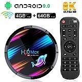 H96 Max X3 TV Box Android 9.0 [4GB 64GB] Quad Core ARM Cortex A55 Mali G31 GPU 2.4G/5G Dual WiFi BT4.0 Lan 100/1000M H.265 Decode USB3.0/2.0 Smart TV Box