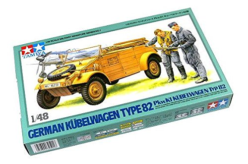 RCECHO® Tamiya Military Model 1/48 German Kubelwagen Type 82 Scale Hobby 32501 174; Version Complète Apps Édition