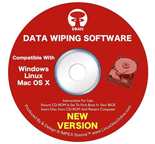 DBAN Boot and Nuke Hard Drive Data Wiping Software for Windows, Linux & Mac on CD