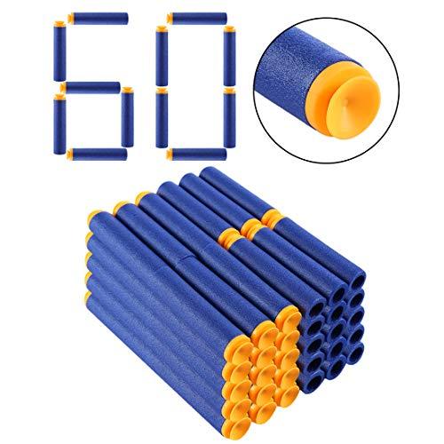 Forweilai 60er Ersatzpfeile Refill Saugnapf Darts Gesaugt Typ Schaum Darts für Nerf Mega-Serie