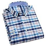 Camisas De Hombre De Talla Grande De Algodón Oxford De Color Puro A Rayas De Sarga De Negocios Casual Camisa De Vestir De Manga Larga para Hombres L 2020-20