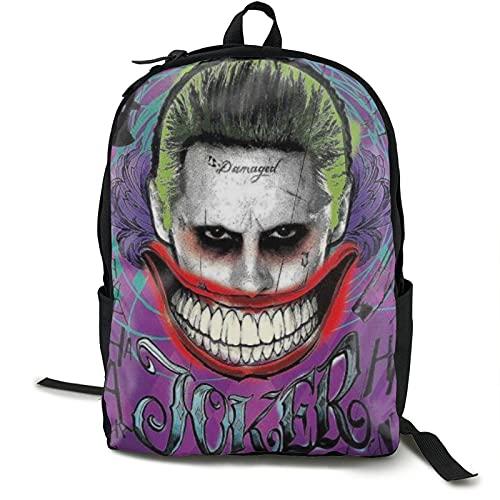 Jerry-Joker - Mochila para escuela, universidad, estudiante, bolsa de negocios, portátil, viaje, equipaje con correas reflectantes