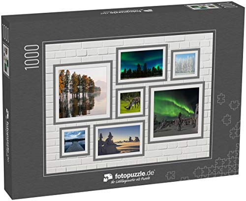 fotopuzzle.de 1000 Teile Puzzle Collage Finnland - klassisches Puzzle als Foto-Collage mit 7 Finnland-Bildern