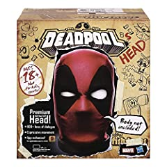 IT'S, LIKE, SO PREMIUM, YOU GUYS: Have you ever wanted to own a piece of me, Deadpool? Now you can, you lucky stiff. This Marvel Legends Deadpool's Head Premium Interactive Head is your ticket to nerd supremacy MY HEAD MOVES TO AND FRO, LIKE A BALLER...
