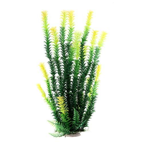 Mayitr 45cm Grün künstliche Aquarium Deko Pflanzen Wasserpflanzen Aquariumpflanzen