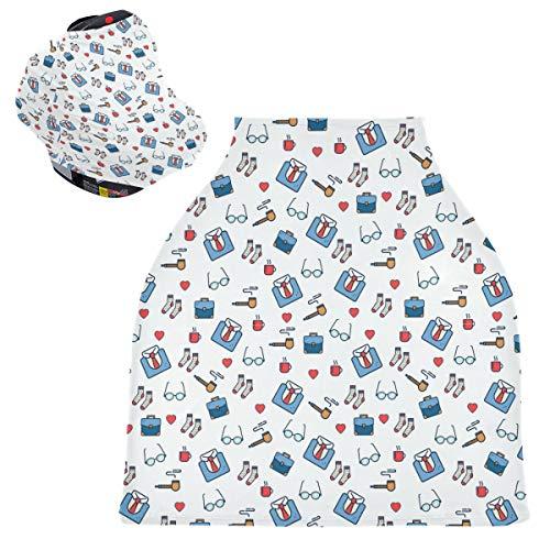 Sinestour Father Pipe - Fundas de asiento de coche para bebé, con toldo elástico para el cochecito, toldo de enfermería, para bebés
