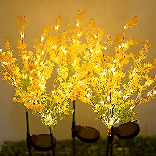 WakeDay - Lampada a LED per esterni, a forma di canola, per giardino, giardino, giardino, prato, paesaggio, decorazione per vialetti, feste, patio, paletto, illuminazione decorativa ideale come regalo