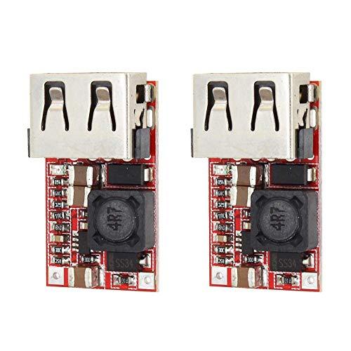 CLJ-LJ 2PCS DC-DC Módulo 6-24V a 5V 3A USB Step Down Fuente de alimentación Cargador Eficiencia 97.5%