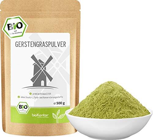 BIO Gerstengraspulver 500g | Gerstengras gemahlen | 100% naturrein | Bioqualität | bioKontor