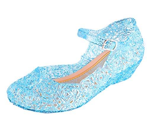 Cinderella Baby Girls Soft Crystal Plastic Shoes Children's Princess Shoes(Toddler/Little Kid) Blue