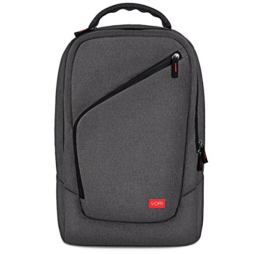 VORI Gaming Backpack, Outdoor Travel Game System Storage Protective Bag for Nintendo Switch System/PlayStation 4/PS4 Slim/Xbox ONE/Xbox ONE X/XBOX 360 Systems/WII U/PS3 and Game Accessories, Dark Gray