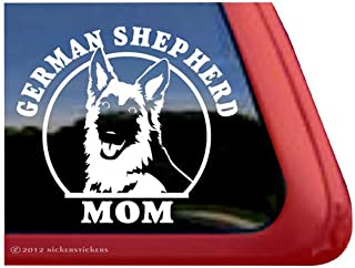 German Shepherd Mom ~ GSD Dog Vinyl Window Decal Sticker