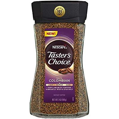 Nescafe Taster's Choice 100% Colombian Medium Roast Instant Coffee, 100% Colombian Medium Roast, 4Count, 3 Pack