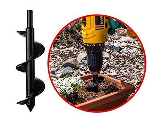 Gartenbohrer Erdbohrer,Garten Handbohrer Digger Werkzeug Garten Gras Stecker Pflanze Blumenzwiebel-Auger 3