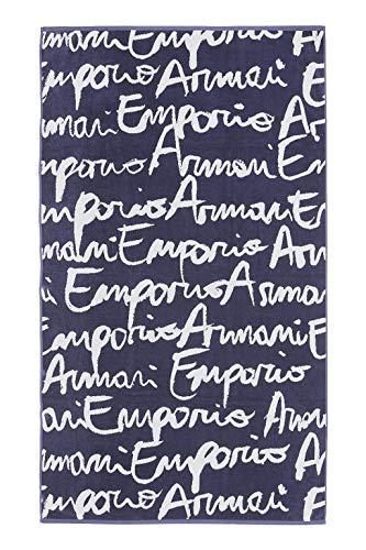 EMPORIO ARMANI swimwear Towel Beachwear Logo Mania Vestito, (Blu Indaco St.Logo 19934), (Taglia Unica: TU) Donna