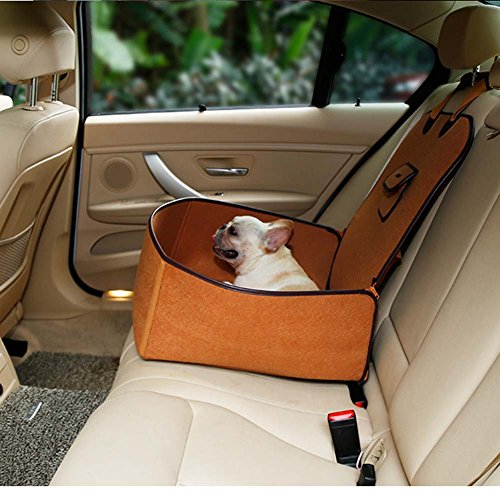 Retro Dual-Use Huisdier Auto Mat Hond Sub-Seat Zitkussen Vilt Doek Voorste Rij Auto Mattrice
