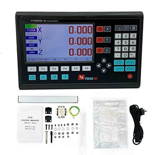TABODD 3 Achse LCD DRO Digitalanzeige Positionsanzeige Werkzeugmaschine 3-Achsen-Gitter CNC-Fräsen Digitalanzeige Elektronische Linearwaage für Fräsmaschinen Positionsanzeige