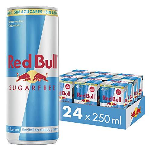 Red Bull Energy Drink Sugarfree - Paquete de 24 x 250 ml