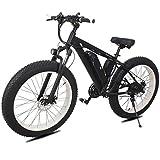 sunyu Bicicletas eléctricas para Adultos, 36V 8Ah-250W 21 velocidades Motor sin escobillas, Bicicleta eléctrica para viajeros, Negro