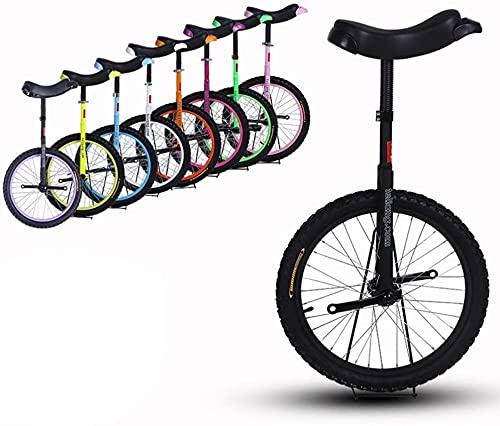 ZWH Bicicletas Monociclo 16/18/20 Pulgadas Rueda Unisex Unicycle Frame De Acero De Servicio Pesado Y Llanta De Aleación, para Niños/para Adultos, Mejor Regalo De Cumpleaños, 8 Colores Opcionales