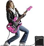 Jaxville ST1PPPK - Pack de Guitarra Electrica stratocaster rosa kit con amplificador...